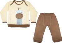 Mini Taurus Baby Boy's Animal Print White Top & Pyjama Set