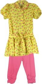 Ssmitn Girl's Animal Print Top & Pyjama Set