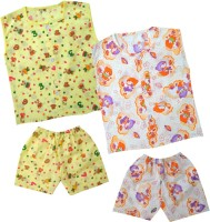 Kids Rock Cute Printed Boys Top & Shorts Set /2 Baby Boy's Printed Top & Shorts Set - NSTE8QA6AYAH7RGZ