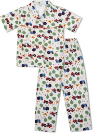 Green Apple Baby Girl's Printed White Top & Pyjama Set