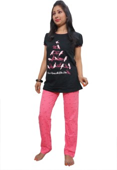 Indiatrendzs Women's Printed Top & Pyjama Set