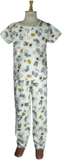 Bluedge Boy's Printed Top & Pyjama Set