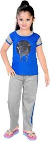 13in Girl's Printed Top & Pyjama Set