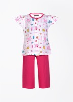 Sweet Dreams Baby Girl's Baby Girl's Printed Top And Pyjama Set