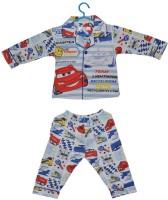 Baby Bucket Baby Boy's Printed Top & Pyjama Set