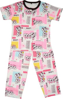 Myfaa Boy's Printed Top & Pyjama Set