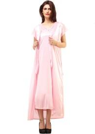 DesiHarem Women's Solid Top & Pyjama Set