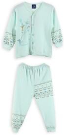 Lilliput Baby Boy's Printed Light Blue Top & Pyjama Set