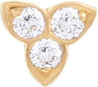J Diamonds Diamond Gold Nose Stud - NRSE472DKWEBX8PY