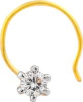 Ijuels Premium Dazzling Jewel Diamond 18K Yellow Gold Plated Gold Nose Stud