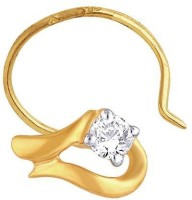 Nakshatra Designer Diamond 18K Yellow Gold Plated Gold Nose Stud