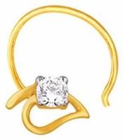 Nakshatra Diamond Yellow Gold Nose Stud - NRSE88HKEHFZ8EXM