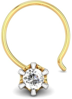 Candere 0.03ct Solitaire Diamond Nose Pin Yellow Gold Nose Stud