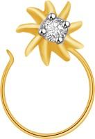 Ciemme 0.04 CT. Flower Shape Diamond Yellow Gold Nose Stud