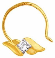 Nakshatra Designer Diamond 18K Yellow Gold Plated Gold Nose Stud - NRSEBGPFUUMEP33S