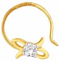 Nakshatra Diamond Yellow Gold Nose Stud - NRSE57ZSJCTNDM9M