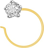 Ciemme 0.05 Ct Fancy Solitaire Cubic Zirconia 18K Yellow Gold Plated Sterling Silver Nose Stud
