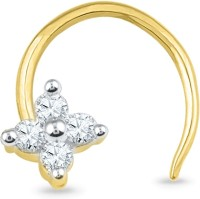Jpearls Sonali Pin Diamond Yellow Gold Nose Ring