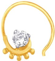 Nakshatra Sparkling & Beautiful Diamond 10K Yellow Gold Plated Gold Nose Ring
