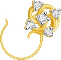 Ciemme 0.14 CT. Flower Shape Diamond Yellow Gold Nose Stud