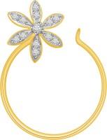 Ciemme 0.08 CT. Flower Shape Diamond Yellow Gold Nose Stud