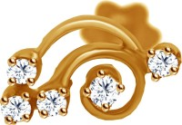 JacknJewel Crazy Curly Diamond 14K Yellow Gold Plated Gold Nose Stud