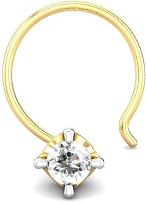 Candere 0.03ct Diamond Four Prong Nose Pin Yellow Gold Nose Stud