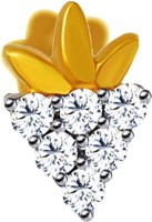 JacknJewel Jewel Fruit Diamond 14K Yellow Gold Plated Gold Nose Stud
