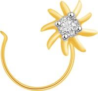 Ciemme 0.06 CT. Flower Shape Diamond Yellow Gold Nose Stud