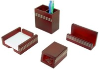Simra Pen Holder, Card Holder,Clip Holder  Office Set (Brown)