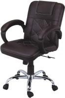 R.B.Furniture Leatherette Office Chair (Brand - Brown, Set Of 4)