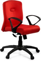 Debono Debono Comfy 272V Medium Back Revolving Chair With Syncro Tilt Mechanism In Red Fabric Fabric Office Chair (Brand - Red)