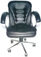 R.B.Furniture Leatherette Office Chair (Brand - Black, Set Of 4)