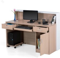 Royal Oak Engineered Wood Office Table (Free Standing, Finish Color - White) - OSTEAZDJDYUCJ99M