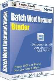 LantechSoft Batch Word Document Binder