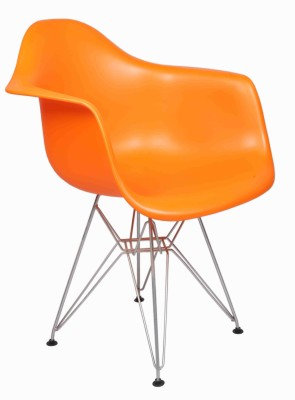 Ventura Plastic Cafeteria Chair (Finish Color - Orange)