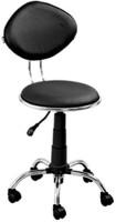 Mavi Leatherette Cafeteria Chair (Finish Color - Black)
