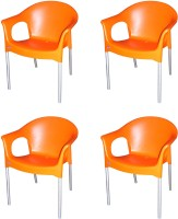 Cello Furniture Plastic Cafeteria Chair (Finish Color - Orange)