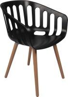 Ventura Plastic Cafeteria Chair (Finish Color - Black)