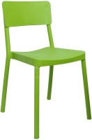 Cello Furniture Plastic Cafeteria Chair (Finish Color - Green)
