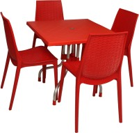 Supreme Red Plastic Table & Chair Set (Finish Color - Red)