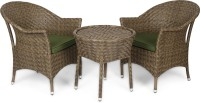 Svelte Brown Metal Table & Chair Set (Finish Color - Brown) - OTSEGHS96UPKFDYA