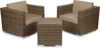 Svelte Brown Metal Table & Chair Set (Finish Color - Brown) - OTSEGHS9ZRFZSG8K