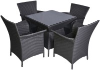 Greenwood Enterprises Grey Solid Wood Table & Chair Set (Finish Color - Grey)