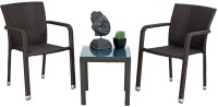 Studio F Brown Synthetic Fiber Table & Chair Set (Finish Color - Brown) - OTSEB793TSMXCTGT