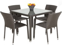 Studio F Brown Synthetic Fiber Table & Chair Set (Finish Color - Brown) - OTSEG2G9NEGZZYBA