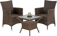 Studio F Brown Synthetic Fiber Table & Chair Set (Finish Color - Brown) - OTSEB793UHGRNZGH
