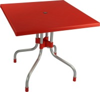 Supreme Plastic Outdoor Table (Finish Color - Red)