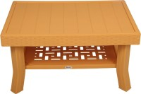 Supreme Plastic Outdoor Table (Finish Color - Amber Gold) - OUTEDUS8ZJGNSHR8