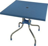 Supreme Plastic Outdoor Table (Finish Color - Soft Blue)